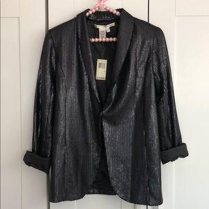 NWT Max Studio Black Sequined Blazer *4